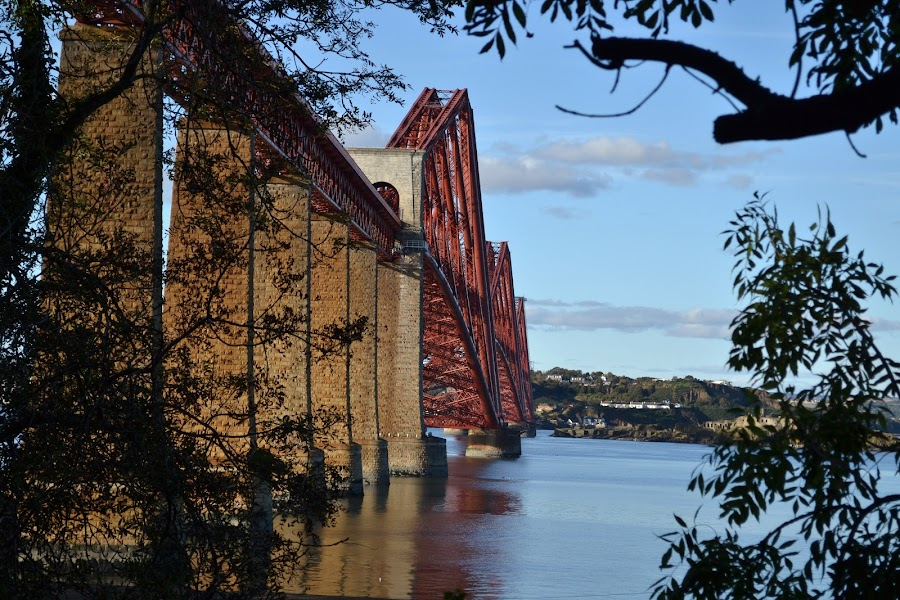 Forth Road Bridge  by Keri Stephenson - Landscapes Waterscapes ( forth, wind, scotland, breeze, scottish, sea, road, bridge, boat )