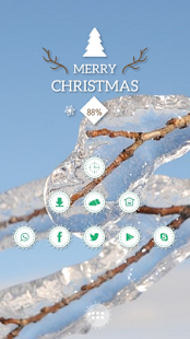 Blue sky transparent ice theme - screenshot