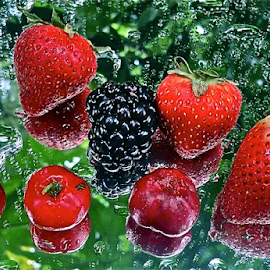 { Strawberry's Cherry's & Dew Berry's ~ 19 July }  by Jeffrey Lee - Food & Drink Fruits & Vegetables ( { strawberry's cherry's & dew berry's ~ 19 july } )