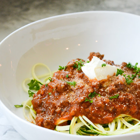Zucchini Noodles Meat Tomato Sauce