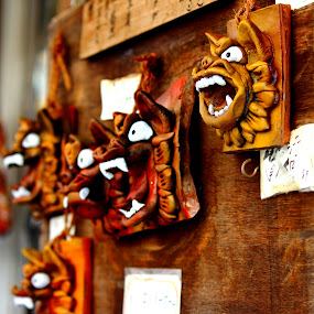 Trophy Wall by Bill MacLachlan - Artistic Objects Other Objects ( shiser, japan, shisa, seeser, kokusai, okinawa, lion dog )