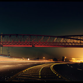Time to wake up by XeeShan Ch - City,  Street & Park  Street Scenes ( pakistan, lahore, lahore airport, ring road, xeeshan, night, long exposure )