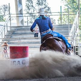 Slide by Sarah Sullivan - Sports & Fitness Other Sports ( barrel racing, dust, dalby, sarah sullivan photography )