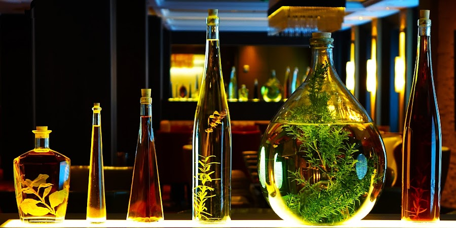 Bottles by Dee Haun - Artistic Objects Glass ( 2017, decorative, cruise ship, 0227x6911ce1, glass, bottles, artistic objects,  )