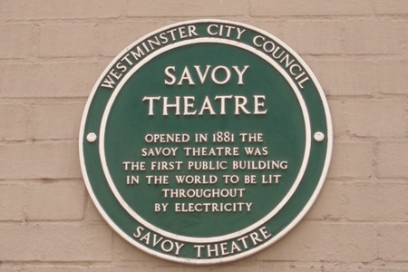 Walking down a small side street (Carting Lane) down the side of the Savoy Theatre in central London, you glance to your left a see a small green plaque on the wall which points out that the Savoy ...