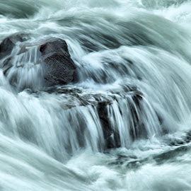 Water fall by Gaylord Mink - Landscapes Waterscapes ( water, falls, rocks, river )