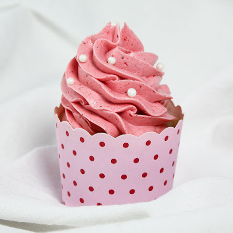 Strawberry Cupcakes with Strawberry Meringue Buttercream