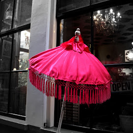 Pink by Hilda van der Lee - Artistic Objects Furniture ( parasol, café, pink, object, city )