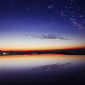 After Sunset by XeeShan Ch - Landscapes Sunsets & Sunrises ( chenab river, stars, sunset, gujrat, xeeshan )