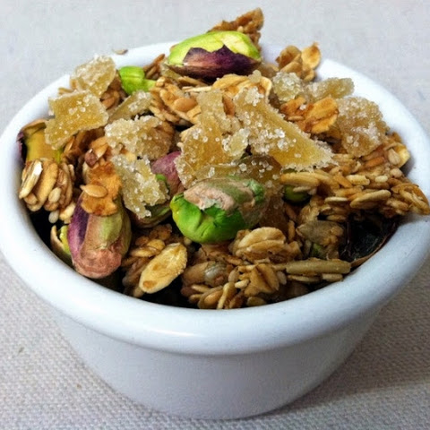 Lemon, Pistachio and Ginger Granola