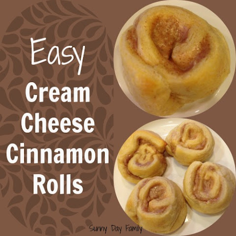 Easiest Ever Cream Cheese Cinnamon Rolls