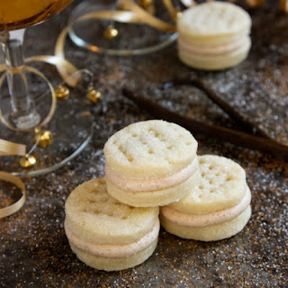 Cream Wafer Sandwich Cookies with Winter Spiced Buttercream