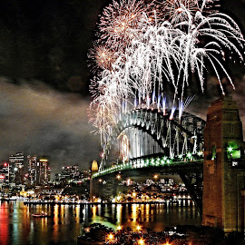 Happy New Year by Gary Tew - Public Holidays New Year's Eve ( sydney, harbour, bridge, fireworks, lights,  )