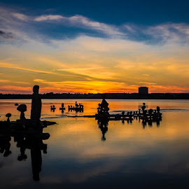 peaceful evening by Philippe Lacroix - Landscapes Sunsets & Sunrises