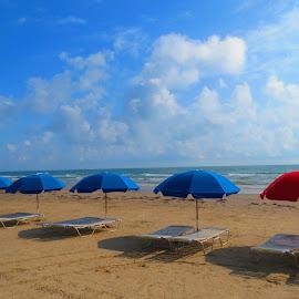 South Padre Island Beach by Kristine Smith - Uncategorized All Uncategorized ( water, color, texas, beach )