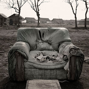 Old Sofa by Ridwan Handoyo - Artistic Objects Furniture ( sofa, old, bw )