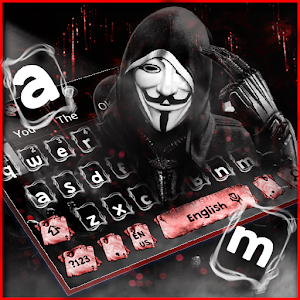 Fake Anonymous Mask Keyboard Theme Online PC (Windows / MAC)