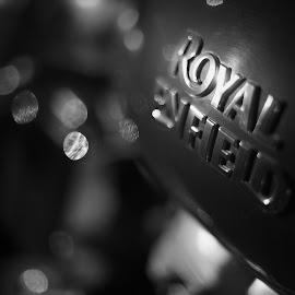 Royal Enfield by Arjun Sabesh - Transportation Motorcycles ( logo, bike, black and white, royal, tradition, enfield, india, chopper )