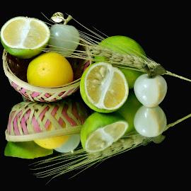 Fresh Lemons by SANGEETA MENA  - Food & Drink Ingredients