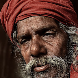 the unmindful by Arnab Bhattacharyya - People Portraits of Men