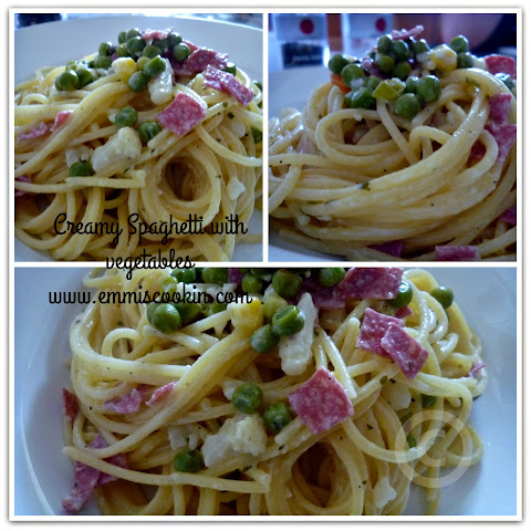 Creamy Spaghetti with vegetables