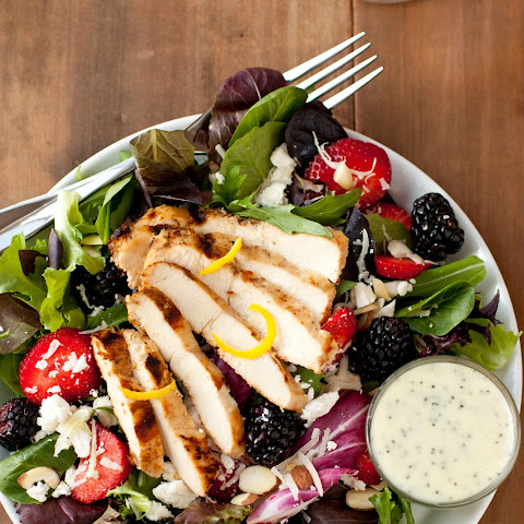 Berry, Lemon Chicken and Feta Salad