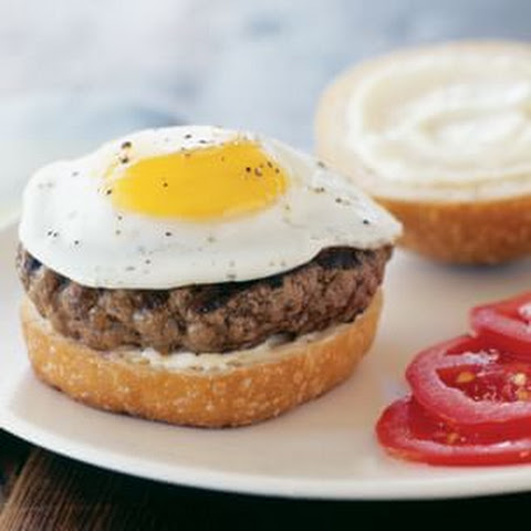 Hamburgers with Fried Eggs
