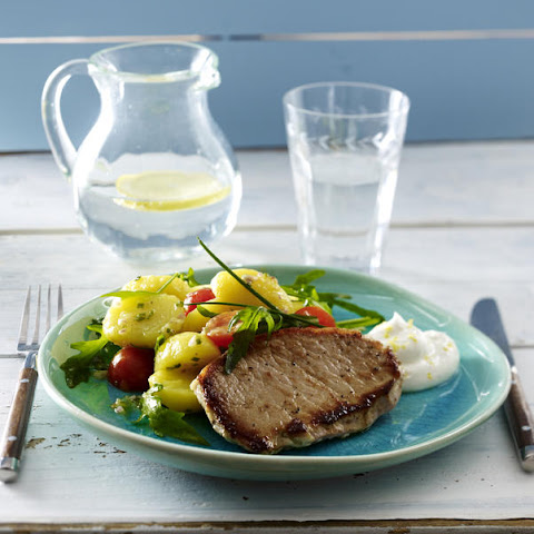 Pan-Seared Pork Loin with Potato Salad