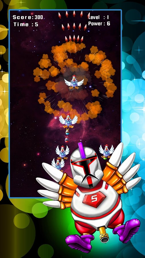 Chicken Shooter: Space Defense Screenshot 2