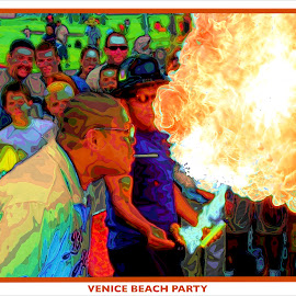 Venice Beach Party by Pete Coleman - Typography Captioned Photos