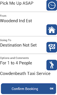 Cowdenbeath Taxi Service - screenshot