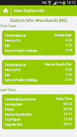 Screenshot of SG MRT Aide