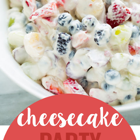 Cheesecake Party Fruit Salad {Dairy-Free!}