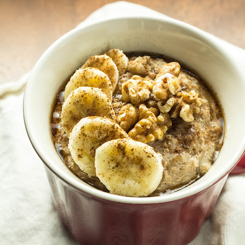 Banana Nut Quinoa Flake Breakfast Bowl