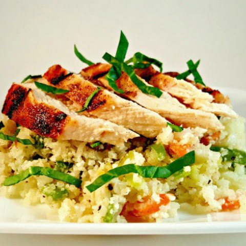 Grilled Chicken with Cauliflower Rice