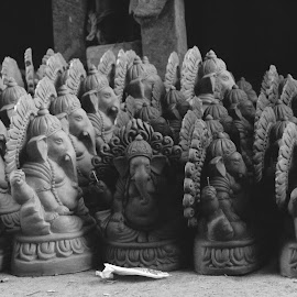 Magical Clay Dolls by Dipanwaya Saha - Artistic Objects Other Objects ( god, art, artistic, lines, gray )