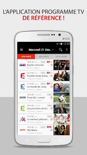 Télé 7 – Programme TV & Replay Android App Screenshot