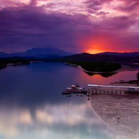 Early Sunrises at Mengkabong  by Donny  Baki - Landscapes Sunsets & Sunrises