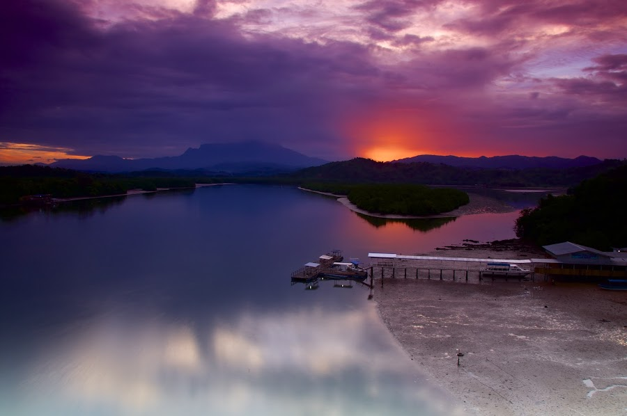 Early Sunrises at Mengkabong  by Donny  Baki - Landscapes Sunsets & Sunrises