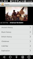 Screenshot of HISTORY
