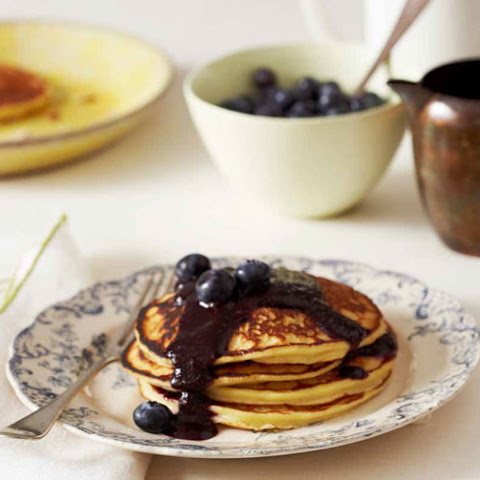 Lemon-ricotta Pancakes With Blueberry Sauce