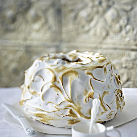 Orange Bundt Cake with Meringue