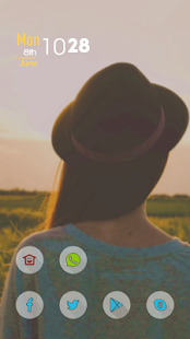 A Girl in A Hat Theme - screenshot