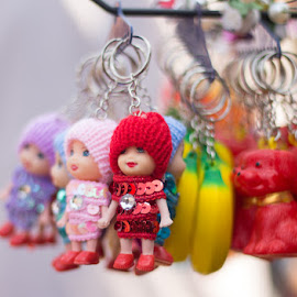 Doll Key Chain by Santosh Singh - Artistic Objects Antiques ( bunch of doll, doll, antique key chain, antique doll, key chain )