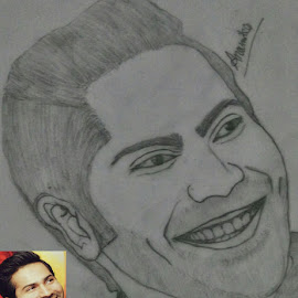 by Unknown - Drawing All Drawing ( #varundhawan #actor #bollywood )