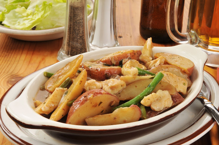 Chicken, Potato & Green Bean Casserole Recipe | Yummly