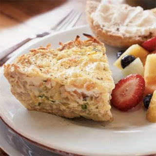 Smoked Salmon and Onion Frittata