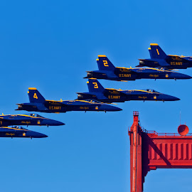 Blue Angels 923 by Raphael RaCcoon - Transportation Airplanes ( blue angels )