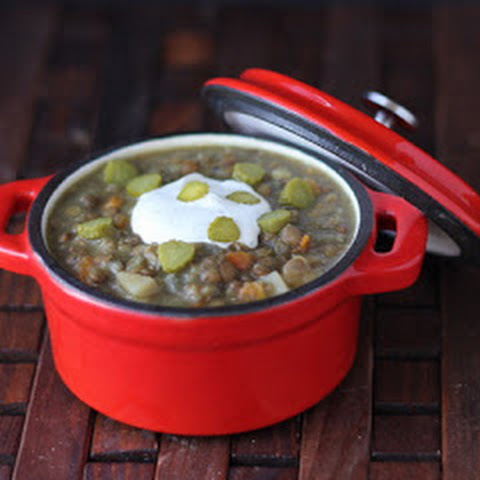 Dill Pickle Lentil Soup