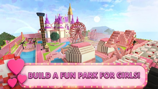 Girls Theme Park Craft: Water Slide Fun Park Games for pc